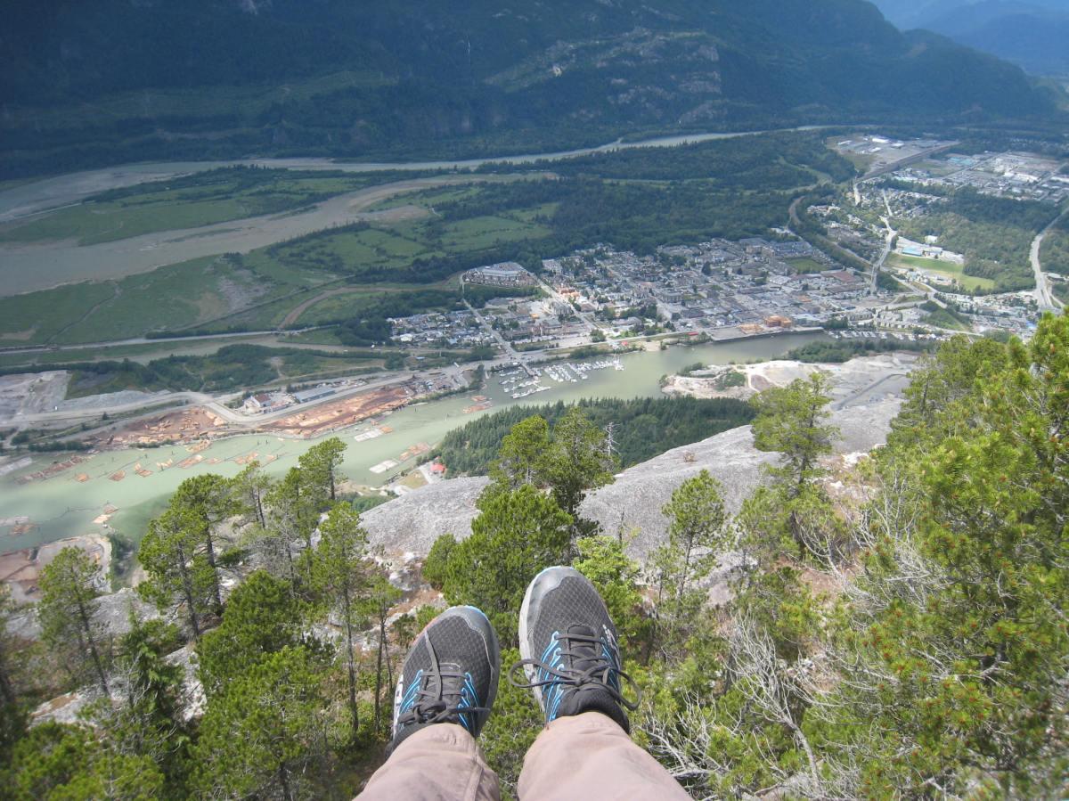 Rock-climbing and exploringSquamish